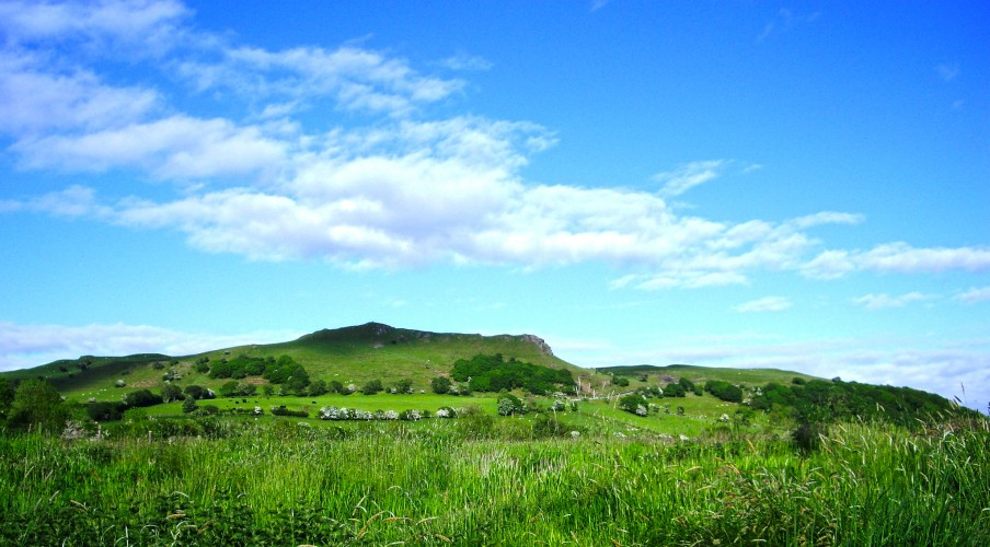 The view of 'Pen y Bannau Mountain' from our camp site..